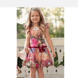Haute Baby Autumn Garden Girls Drop Waist dress